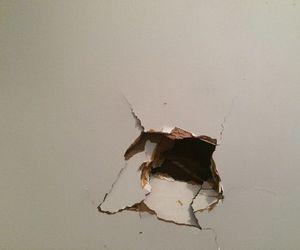 wall, grunge, and hole image