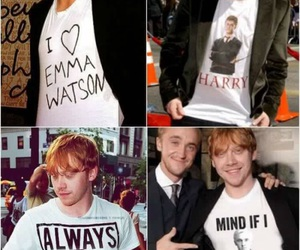 harry potter, rupert grint, and draco malfoy image