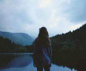 girl, nature, and lake image