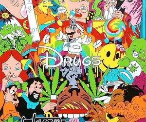 drugs, disney, and weed image