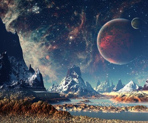 fantasy, planet, and sky image
