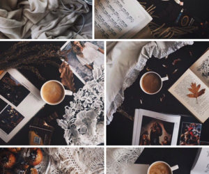 bed, coffee, and Collage image