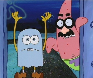 Halloween, spongebob, and patrick image