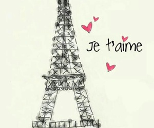 french, heart's, and tower image