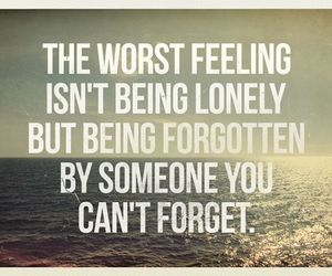 quotes, lonely, and forget image