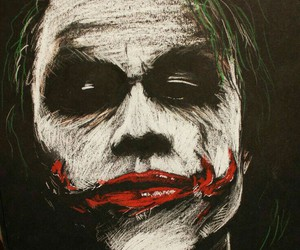 batman, joker, and art image