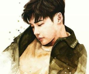 art, watercolor, and lee jong suk image