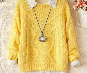 yellow, sweater, and style image