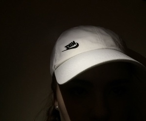 black, hat, and nike image