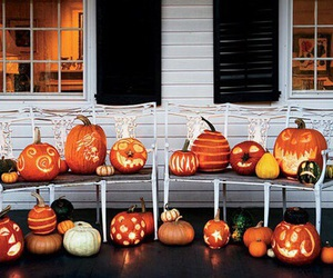 autumn, Halloween, and pumpkin image