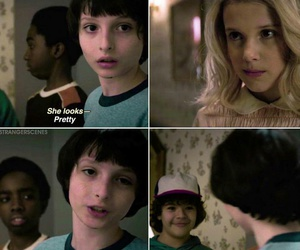 eleven, stranger things, and mike image