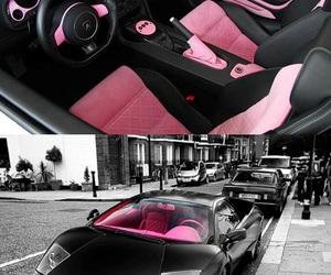 car, pink, and black image