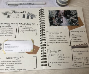 diary, exams, and journal image