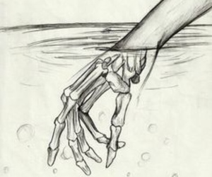 hand in water image