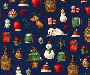 christmas, snow, and wallpaper image
