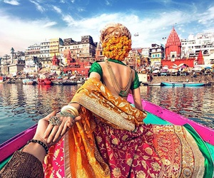 india, travel, and varanasi image