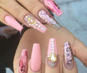 nails, coffin, and pink image