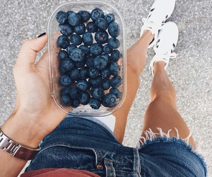 blueberry, love, and food image