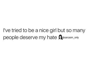 quotes, girl, and hate image