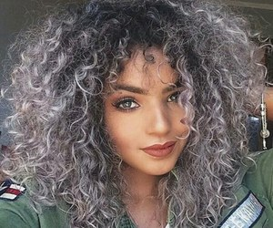 hair, curly, and fashion image