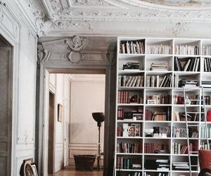 book, interior, and library image
