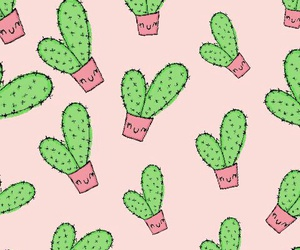 cactus, pattern, and cute image