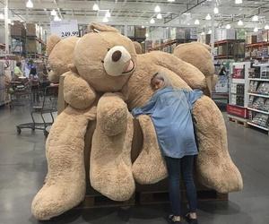 girl, bear, and aesthetic image