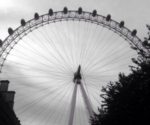 london, london eye, and fairest wheel image