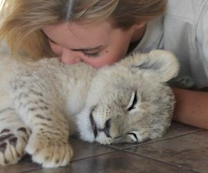 cute, girl, and animal image