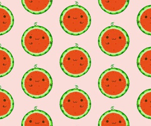 pattern, summer, and watermelon image