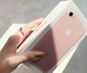 7, apple, and baby pink image