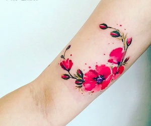 floral and tattoo image