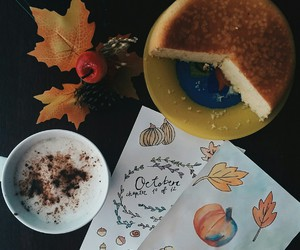 autumn, drawing, and latte image