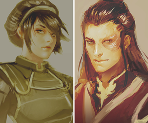 toph, zuko, and avatar image