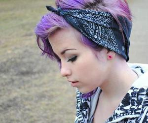 alternative, violet hair, and girl image