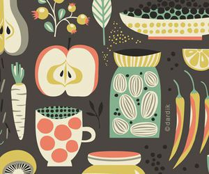 illustration, pattern, and utensils image