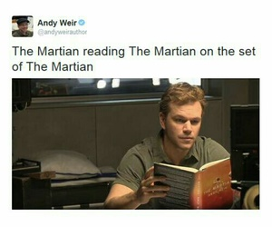 book, movie, and the martian image