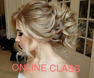 blonde, hairstyle, and Prom image