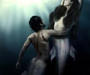 couple, eternity, and mermaid image