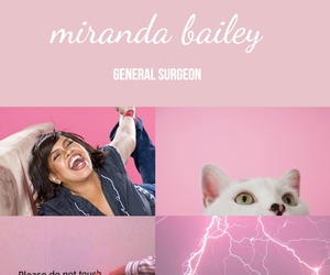 greys anatomy, pink, and miranda bailey image