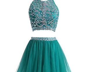 two pieces prom dress image