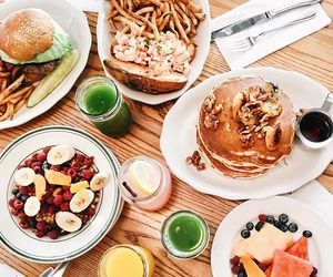 breakfast, healthy, and pancakes image