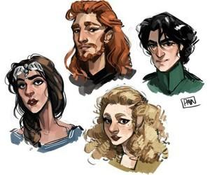hogwarts, gryffindor, and harry potter image