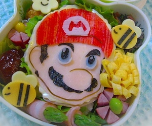 food, mario, and bento image