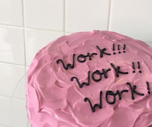 pink and work image
