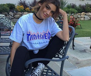 girl, thrasher, and clothes image