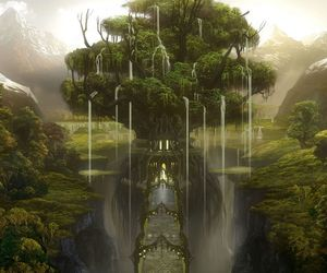 tree, art, and fantasy image