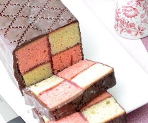 cake, sweet, and battenberg image