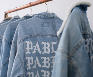 fashion, blue, and pablo image