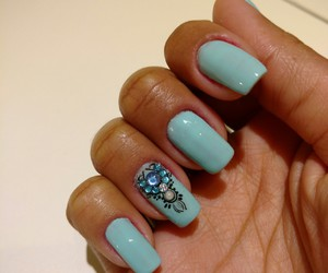blue, mermaid, and nail image